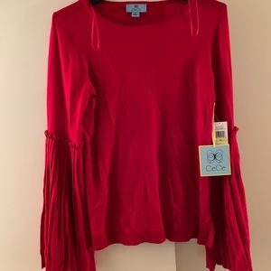 CeCe Glitz and Glam size M sweater w/ bell sleeves